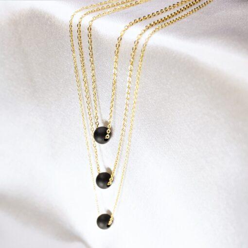 g-amber - gintaro - papuosalai - grandineles - juodas - gintaras - kaklo - papuosalas